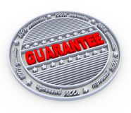 3d guarantee stamp Royalty Free Stock Photo