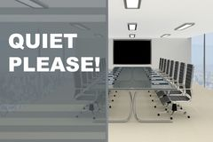 Quiet Please! concept Royalty Free Stock Photography