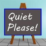 Quiet Please! concept Royalty Free Stock Photo