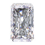 3D illustration radiant diamond stone. On a white background Stock Photo