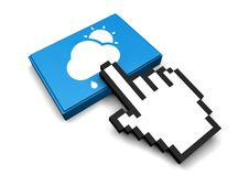 Raining Day Icon. 3D Illustration Raining Day Vector Icon Stock Photography