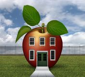 Red Apple House 3D Stock Photography