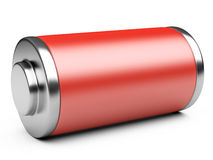 3D illustration of red battery Royalty Free Stock Photos