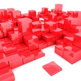 3d illustration of red boxes. Abstract 3d illustration of red boxes on white background vector illustration