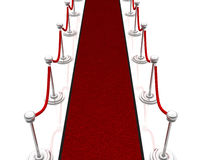 3d illustration red carpet Stock Photo