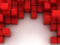 3d illustration of red cubes Stock Photo