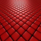 3d illustration of red cubes Royalty Free Stock Images
