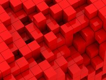 3d illustration of red cubes Royalty Free Stock Photos
