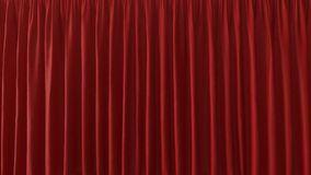 3d Illustration of the Red Curtain. 3d Abstract Background of the Red Curtain Royalty Free Stock Image