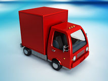 Red delivery truck Stock Images