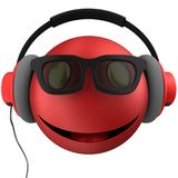 3d red emoticon smile Stock Images