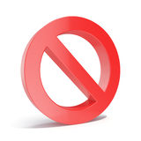 3d illustration red empty forbidden, restricted or prohibited, limit sign isolated on white background Stock Photo