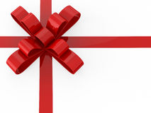 3D illustration red gift bow Stock Photography