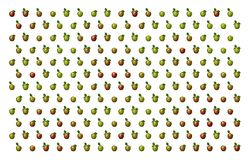 Apples Pattern On White Royalty Free Stock Photos