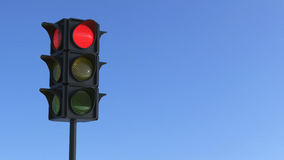 3D illustration red traffic light Royalty Free Stock Images