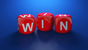 Win dices Stock Photo
