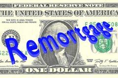 Remortgage - financial concept vector illustration