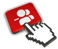 Remove Group Icon. 3D illustration of Remove Group Icon- Hand Cursor Click Stock Photos