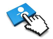 Remove User Icon. 3D Illustration Remove User Vector Icon Stock Image