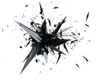 3D illustration rendering of Mesh Explosion. Stock Photography