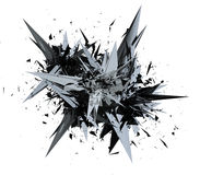 3D illustration rendering of Mesh Explosion. Royalty Free Stock Photography
