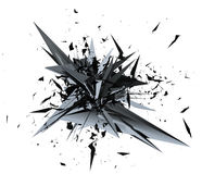 3D illustration rendering of Mesh Explosion. Royalty Free Stock Photo