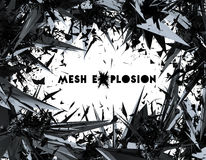3D  illustration rendering of Mesh Explosion. Royalty Free Stock Photos