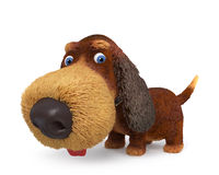 3d illustration  ridiculous dog Royalty Free Stock Images