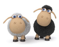 3d illustration ridiculous sheep Royalty Free Stock Image