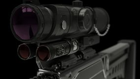3d illustration of a rifle royalty free stock photos