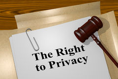 The Right to Privacy concept Stock Photo