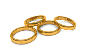 3d illustration, rings Stock Images