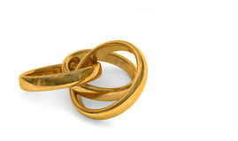 3d illustration, rings Royalty Free Stock Images