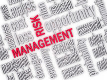 3d Illustration of risk management. 3d Illustration of Wordcloud word tags of risk management Royalty Free Stock Photo