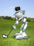 3D Illustration Robot Golfer Royalty Free Stock Photo