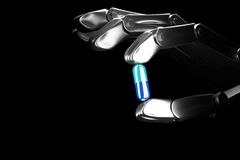 3d illustration robot hand keeps pill Royalty Free Stock Photography