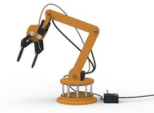 3d illustration of robotic arm. Royalty Free Stock Photo