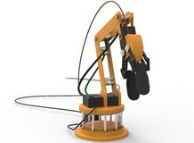 3d illustration of robotic arm. Royalty Free Stock Image