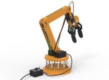 3d illustration of robotic arm. Stock Images