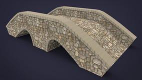 3d illustration of rock bridge. Royalty Free Stock Images