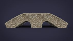 3d illustration of rock bridge. Stock Photos