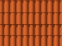 3d illustration Roof tiles. Texture. Orange color. Seamless. Shadow from the sun vector illustration