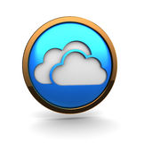 Clouds icon Stock Photo