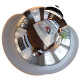 3d illustration, sömlös panorama 360 av sovrum Fotografering för Bildbyråer