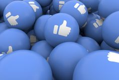 Thumb up blue balls like icon Emoji emoticon character background collection royalty free illustration