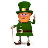 3D Illustration of Saint Patrick. With a Cane Stock Image