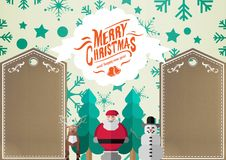 3D Illustration of santa claus christmas wishes and decoration Royalty Free Stock Images