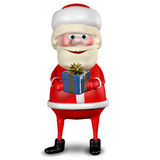 3D Illustration of Santa Claus with Gifts Stock Photography