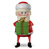 3D Illustration of Santa Claus with Green Gifts Royalty Free Stock Photography