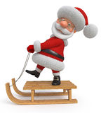3d Illustration Santa Claus reitet den Schlitten Vektor Abbildung